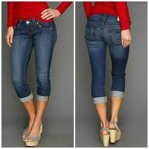 True Religion Cropped Skinny Jeans